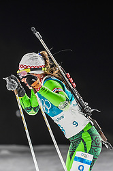 February 12, 2018 - Pyeongchang, Gangwon, South Korea - Darya Domracheva of Belarus competing at Women's 10km Pursuit, Biathlon, at olympics at Alpensia biathlon stadium, Pyeongchang, South Korea. on February 12, 2018. Ulrik Pedersen/Nurphoto  (Credit Image: © Ulrik Pedersen/NurPhoto via ZUMA Press)