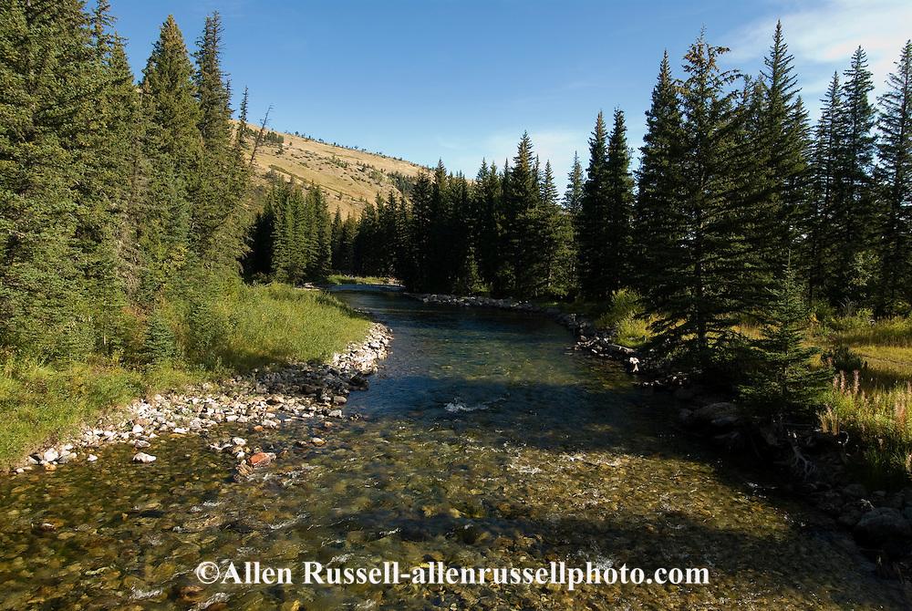 West Boulder River, West Boulder Valley, south of Big Timber, Montana