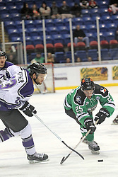 15 November 2013: Dustin Hopfner & Jake Trask.  Louisiana IceGators at Bloomington Thunder Southern Professional Hockey League (SPHL) at the U.S. Cellular Coliseum in Bloomington Illinois