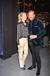 LONDON, ENGLAND 6 DECEMBER 2016: <br /> Barbora Bediova, Alistair Guy at the Fabergé Visionnaire DTZ Launch held on the 39th Floor Penthouse, South Bank Tower, Upper Ground, London, England. 6 December 2016.