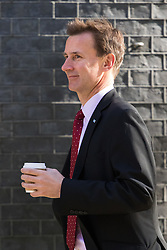 Downing Street, London, May 3rd 2016. Health Secretary Jeremy Hunt arrives at 10 Downing Street for the weekly cabinet meeting. &copy;Paul Davey<br /> FOR LICENCING CONTACT: Paul Davey +44 (0) 7966 016 296 paul@pauldaveycreative.co.uk
