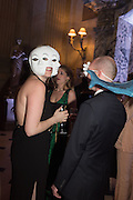 BELLA BLENKINSOPP; INDIA ALEXANDER; ROSS CHALMERS, Ball at to celebrateBlanche Howard's 21st and  George Howard's 30th  birthday. Dress code: Black Tie with a touch of Surrealism. Castle Howard. Yorkshire. 14 November 2015