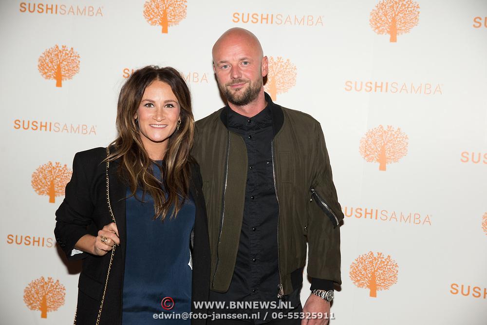 NLD/Amsterdam/20171016 - Opening Restaurant Sushi Samba, Saar Koningsberger en partner Martijn