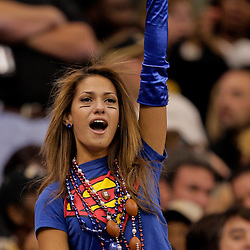 2009 October 18: New York Giants fan Reby Sky in the stands during a 48-27 win by the New Orleans Saints over the New York Giants at the Louisiana Superdome in New Orleans, Louisiana.