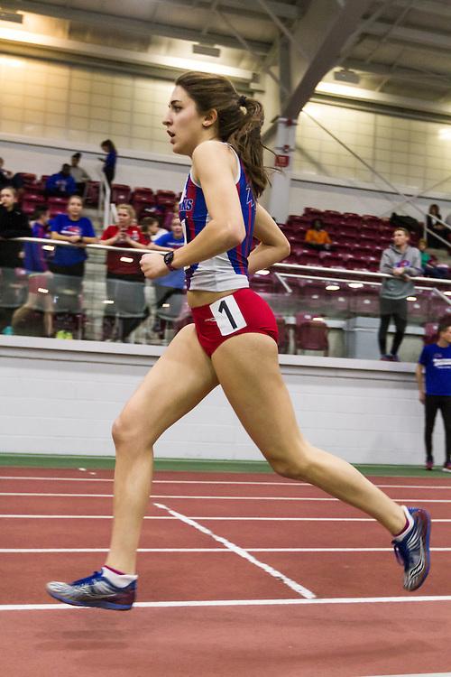 Boston University Multi-team indoor track & field, women's one mile, heat 1, UMass Lowell, 491