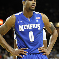 Memphis forward Will Coleman (0) during a Conference USA NCAA basketball game between the Memphis Tigers and the Central Florida Knights at the UCF Arena on February 9, 2011 in Orlando, Florida. Memphis won the game 63-62. (AP Photo: Alex Menendez)
