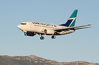 Westjet 737-600 on final approach into Whitehorse, Yukon