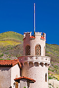 Tower detail at Scottys Castle, Death Valley National Park. California
