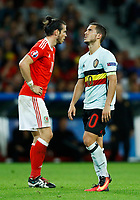 Gareth Bale (Wales) and Eden Hazard (Belgium) <br /> Lille 01-07-2016 Stade Pierre Mauroy Football Euro2016 Wales - Belgium / Galles - Belgio <br /> Quarter-finals. Foto Matteo Ciambelli / Insidefoto