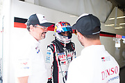 June 13-18, 2017. 24 hours of Le Mans. Sébastien Buemi, Toyota Racing, Toyota TS050 Hybrid, Rob Luepen, Director of Business Operations for Toyota Racing