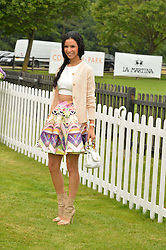 OTAVIA KENT at the Cartier Queen's Cup Polo final at Guard's Polo Club, Smiths Lawn, Windsor Great Park, Egham, Surrey on 14th June 2015