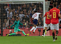Football - 2018 / 2019 UEFA Nations League A - Group Four: England vs. Spain<br /> <br /> Marcu s Rashford (England) strikes to give England the lead at Wembley Stadium.<br /> <br /> COLORSPORT/DANIEL BEARHAM