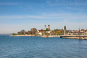 Castle Church, Friedrichshafen, Promenade, Baden-Wurttemberg, Lake Constance, Germany.