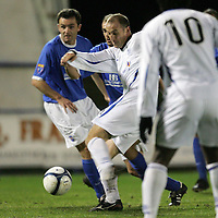 Queen of the South v St Johnstone..06.03.2007<br /> Paul Sheerin shoots for goal <br /> <br /> Picture by Graeme Hart.<br /> Copyright Perthshire Picture Agency<br /> Tel: 01738 623350  Mobile: 07990 594431