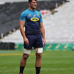 Francois Louw of South Africa during the South African Springboks Captain's Run at Jonsson Kings<br /> Park ,Durban,South Africa.17,08,2018 Photo by (Steve Haag)