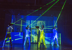 © Licensed to London News Pictures. 04/02/2013. London, UK. SIRO-A at the Leicester Square Theatre are described as Japan's answer to the Blue Man Group, they are an exciting six strong performance group from Sendai, Japan. Photo credit: Tony Nandi/LNP