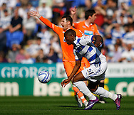 Picture by Andrew Tobin/Focus Images Ltd. 07710 761829. 24/03/12 Benik Afobe of Reading (on loan from Arsenal) on the ball during the Npower Championship match at Madejski stadium, Reading.