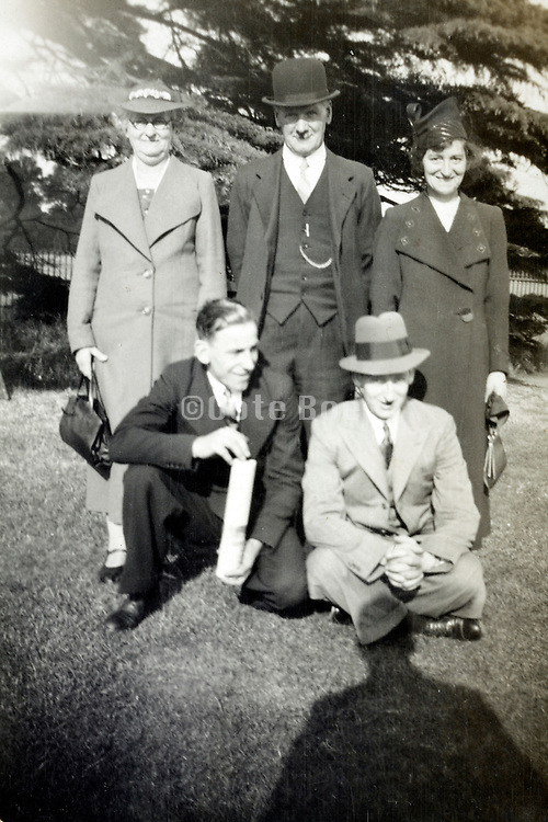 various generation posing for a picture England