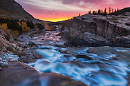 Sunrise at Swiftcurrent Falls in Glacier National Park.  This little gem is in the northeast corner of the park known a Many Glacier.