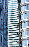 abstract shot of high rise office buildings in London Docklands