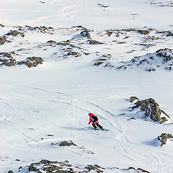 Pamela Thorburn in action on the Flypaper at the Freeride World Tour Coe Cup in Glencoe (c) ROSS EAGLESHAM | Sportpix.co.uk