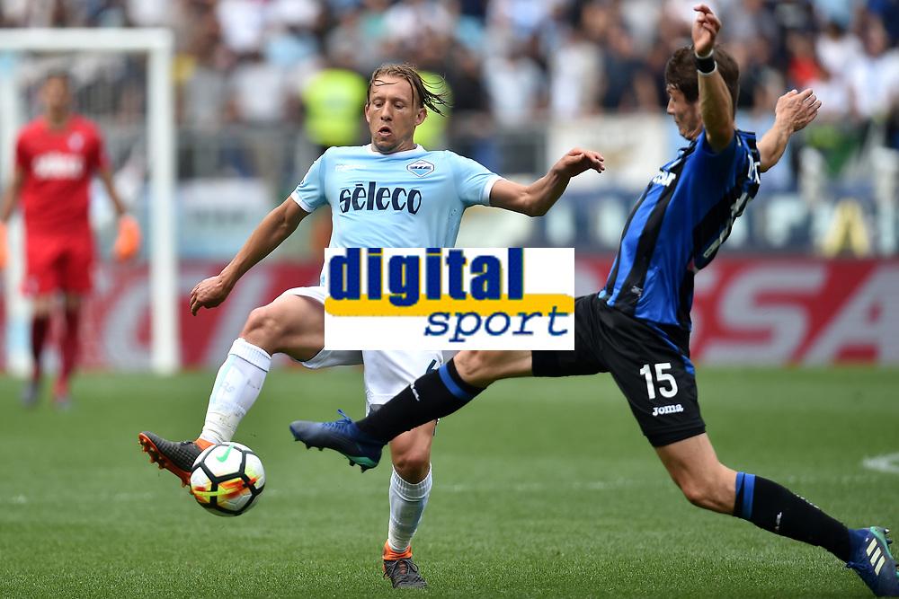 Lucas Leiva Lazio, Jose Luis Palomino atalanta <br /> Roma 06-05-2018 Stadio Olimpico Football Calcio Serie A 2017/2018 Lazio - Atalanta Foto Andrea Staccioli / Insidefoto