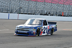 June 22, 2018 - Madison, Illinois, U.S. - MADISON, IL - JUNE 22:  Johnny Sauter (21) driving a Chevrolet for ISM Connect warms up before the Camping World Truck Series - Eaton 200 on June 22, 2018, at Gateway Motorsports Park, Madison, IL.   (Photo by Keith Gillett/Icon Sportswire) (Credit Image: © Keith Gillett/Icon SMI via ZUMA Press)