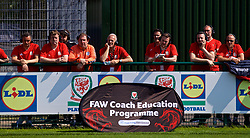 NEWPORT, WALES - Saturday, May 19, 2018: Delegates watch a practical demonstration during day two of the Football Association of Wales' National Coaches Conference 2018 at Dragon Park. (Pic by David Rawcliffe/Propaganda)