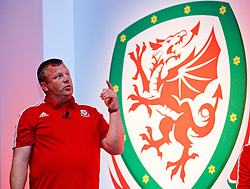 NEWPORT, WALES - Sunday, May 28, 2017: Bala Town manager Colin Caton during day three of the Football Association of Wales' National Coaches Conference 2017 at the Celtic Manor Resort. (Pic by David Rawcliffe/Propaganda)