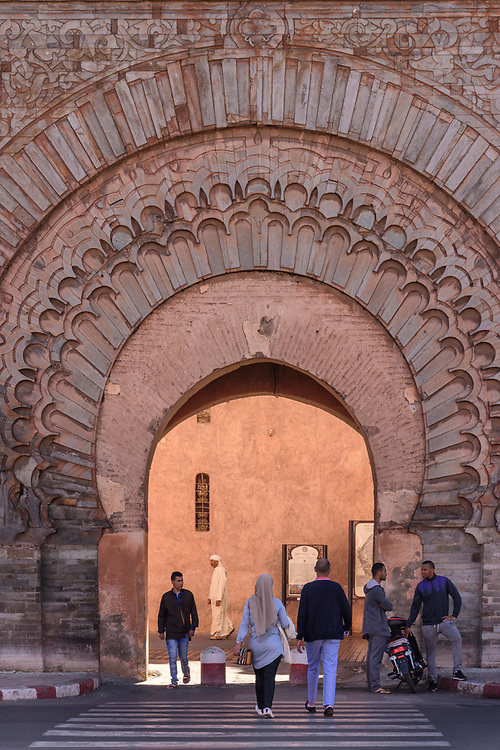 North Africa; Africa; African; Morocco; Moroccan; Marrakesh; Bab Agnaou, gate to the Medina