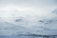 Grundarfjörður in winter, Snæfellsnes Peninsula, West Iceland.