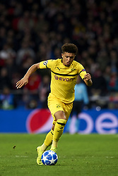 November 6, 2018 - Madrid, Spain - Jadon Sancho of Borussia Dortmund during the Group A match of the UEFA Champions League between Atletico de Madrid and Borussia Dortmund at Wanda Metropolitano Stadium, Madrid on November 06 of 2018. (Credit Image: © Jose Breton/NurPhoto via ZUMA Press)