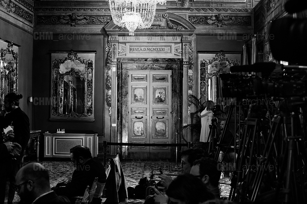 Press room of Senate palace on the second day of consultations for the formation of the new government on April 19, 2018 in Rome, Italy. Christian Mantuano  / OneShot