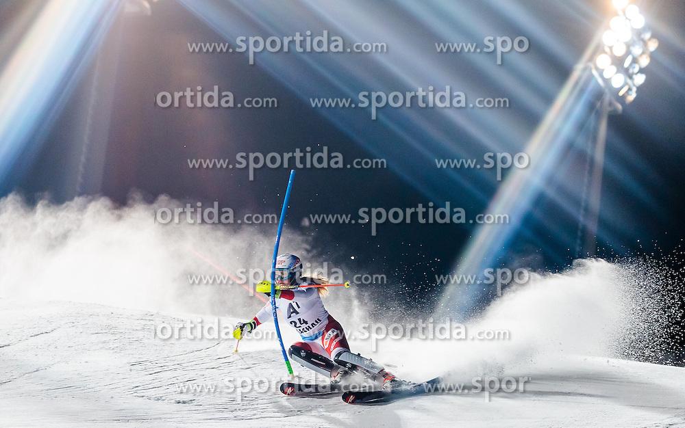 10.01.2017, Hermann Maier Weltcupstrecke, Flachau, AUT, FIS Weltcup Ski Alpin, Flachau, Slalom, Damen, 1. Lauf, im Bild Melanie Meillard (SUI) // Melanie Meillard of Switzerland in action during her 1st run of ladie's Slalom of FIS ski alpine world cup at the Hermann Maier Weltcupstrecke in Flachau, Austria on 2017/01/10. EXPA Pictures © 2017, PhotoCredit: EXPA/ Johann Groder
