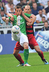 20.08.2011, Weser Stadion, Bremen, GER, 1.FBL, Werder Bremen vs SC Freiburg, im Bild Markus Rosenberg (Bremen #11) Pavel Krmas (Freiburg #2)..// during the Match GER, 1.FBL, Werder Bremen vs SC Freiburg on 2011/08/20,  Weser Stadion, Bremen, Germany..EXPA Pictures © 2011, PhotoCredit: EXPA/ nph/  Kokenge       ****** out of GER / CRO  / BEL ******