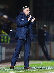 Coventry City manager Tony Mowbray applauds his team  - Mandatory byline: Matt McNulty/JMP - 07966 386802 - 20/10/2015 - FOOTBALL - Gigg Lane - Rochdale, England - Rochdale v Coventry - Sky Bet League One