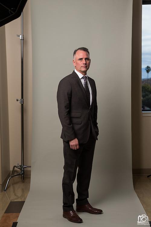 The Good Samaritan Hospital C-Suite poses for a portrait at Good Samaritan Hospital in San Jose, California, on January 4, 2018. (Stan Olszewski/SOSKIphoto)