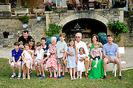 11-6-2014 -  Queen Margrethe, Prince Henrik, Crownprince Frederik, Crownprincess Mary, Prince Christian, Princess Isabella, Prince Vincent, Princess Josephine, Prince Joachim, Princess Marie, Prince Nikolai, Prince Felix, Prince Henrik and Princess Athena pose at the 80th birthday of Prince Henrik for the media at their summer residence Chateau de Caix in Cahors, France, 11 June 2014. COPYRIGHT ROBIN UTRECHT