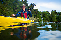 Kayaking Nestucca Bay. Pacific City, Oregon.