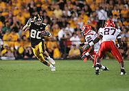 08 SEPTEMBER 2007: Iowa wide receiver Andy Brodell (80) in Iowa's 35-0 win over Syracuse at Kinnick Stadium in Iowa City, Iowa on September 8, 2007.
