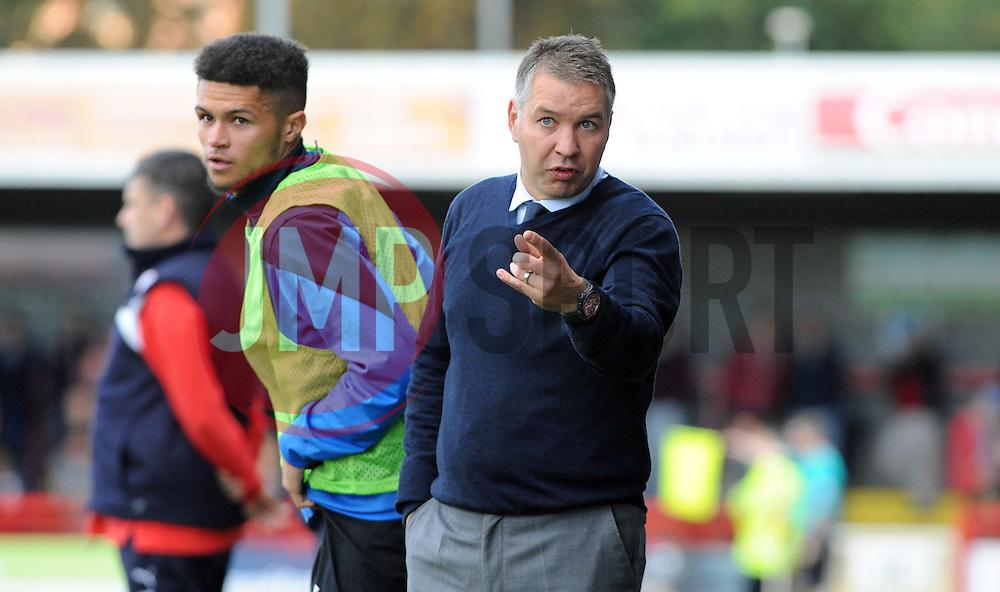 Peterborough United Manager, Darren Ferguson issues his orders - photo mandatory by-line David Purday JMP- Tel: Mobile 07966 386802 - 11/10/14 - Crawley Town v Peterbourgh United - SPORT - FOOTBALL - Sky Bet Leauge 1  - London - Checkatrade.com Stadium