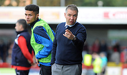 Peterborough United Manager, Darren Ferguson issues his orders - photo mandatory by-line David Purday JMP- Tel: Mobile 07966 386802 - 11/10/14 - Crawley Town v Peterbourgh United - SPORT - FOOTBALL - Sky Bet Leauge 1  - London - Checkatrade.com Stadium