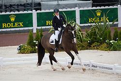 Elizabeth Sobecki, (AUS), Hatero de PB - Team Competition Grade III Para Dressage - Alltech FEI World Equestrian Games™ 2014 - Normandy, France.<br /> © Hippo Foto Team - Jon Stroud <br /> 25/06/14