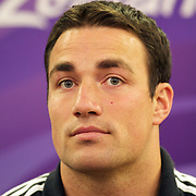 New Zealand player Richard Kahui during a press conference in Auckland at the IRB Rugby World Cup tournament, Auckland, New Zealand, 18th October 2011. Photo Tim Clayton...