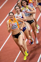 05-03-2017  SRB: European Athletics Championships indoor day 3, Belgrade<br /> Marleen Koster slaagt er niet in om Nederland een tweede medaille te bezorgen. in de laatste ronde werd ze geklopt en werd vierde