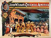 John W. Isham's Oriental America c1896. (poster) : lithograph. American theatre poster