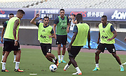 SHANGHAI, CHINA - JULY 21: (L3-R2) <br /> <br /> Wayne Rooney, Daley Blind and David de Gea of Manchester United attends first team training session as part of their pre-season tour of China during the 2016 International Champions Cup football match between Manchester United and Dortmund on July 21, 2016 in Shanghai, China.<br /> ©Exclusivepix Media
