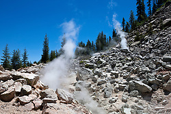Geothermal steam vents / fumarole, Devil's Kitchen, Lassen Volcanic National Park, California, United States of America
