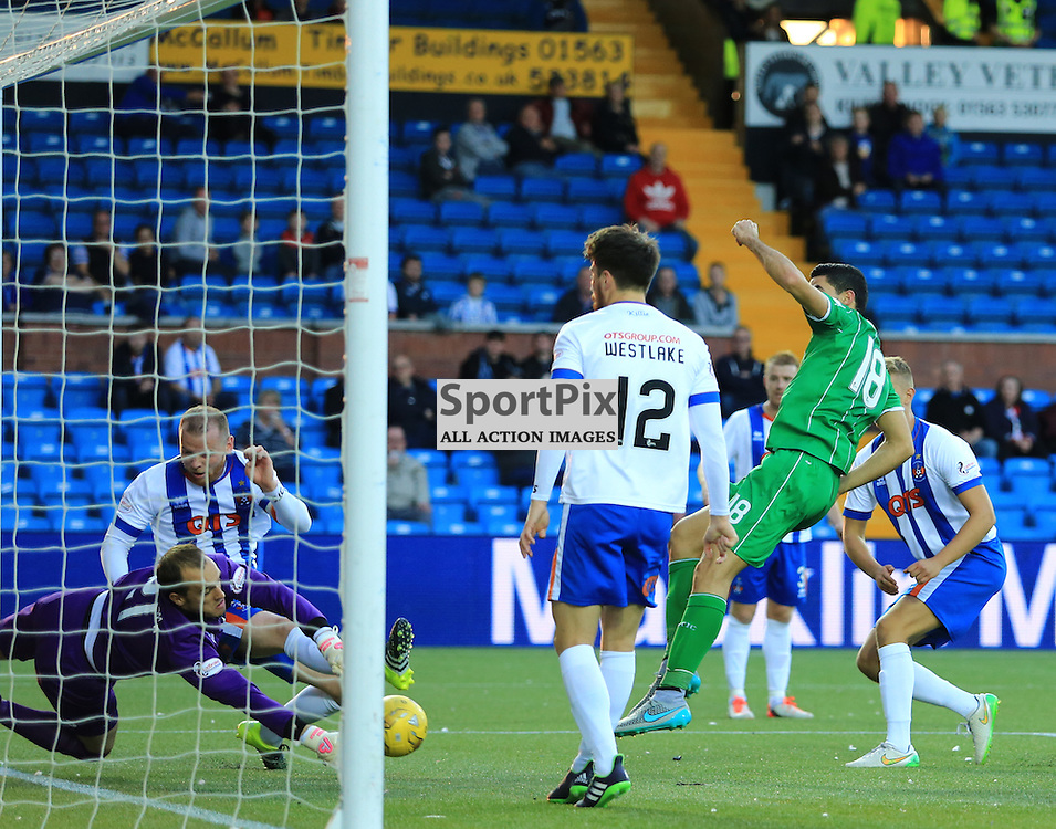 Celtic's Tomas Rogić  misses a great chance for Celtic during the Kilmarnock FC V Glasgow Celtic FC Scottish Premiership 12th August 2015 ©Edward Linton | SportPix.org.uk