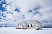 Old schoolhouse in Imbler, Oregon.